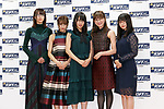 Members of the idol group Keyakizaka 46 attend a photo call for the 30th Japan Best Dressed Eyes Awards at Tokyo Big Sight on October 11, 2017, Tokyo, Japan. The event featured Japanese celebrities who were recognized for their fashionable eyewear. (Photo by Rodrigo Reyes Marin/AFLO)