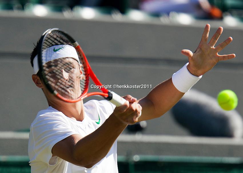 25-06-11, Tennis, England, Wimbledon, Bernard Tomic