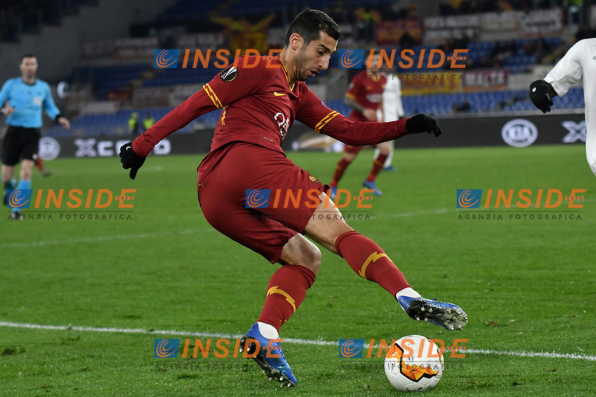 Henrikh Mkhitaryan of AS Roma <br /> Roma 20-02-2020 Stadio Olimpico <br /> Football Europa League 2019/2020 Round of 32 first leg <br /> AS Roma -  Kaa Gent <br /> Photo Andrea Staccioli / Insidefoto