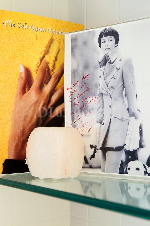 Photo on a glass shelf