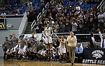 The Elko bench celebrates as they defeat Desert Pines 63-47 in a Division IA semi-final game in the NIAA state tournament at Lawlor Events Center, in Reno, Nev., on Friday, Feb. 28, 2014.(Cathleen Allison/Las Vegas Review-Journal)