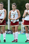 30 September 2016: Boston College's Alesandra Miller. The Duke University Blue Devils hosted the Boston College Eagles at Jack Katz Stadium in Durham, North Carolina in a 2016 NCAA Division I Field Hockey match. Duke won the game 6-2.