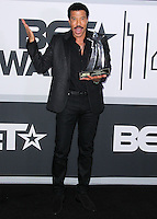 LOS ANGELES, CA, USA - JUNE 29: Musician Lionel Richie poses in the press room at the 2014 BET Awards held at Nokia Theatre L.A. Live on June 29, 2014 in Los Angeles, California, United States. (Photo by Xavier Collin/Celebrity Monitor)