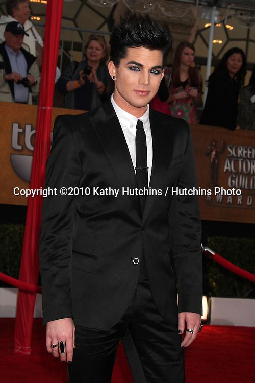 Adam Lambert.arrivng the 16th Annual Screen Actor's Awards.Shrine Auditorium.Los Angeles, CA.January 23, 2010.©2010 Kathy Hutchins / Hutchins Photo....