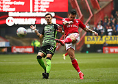 24th March 2018, The Valley, London, England;  English Football League One, Charlton Athletic versus Plymouth Argyle; Lewis Page of Charlton Athletic takes a shot past Ruben Lameiras of Plymouth Argyle to score his sides 1st goal in the 3rd minute to make it 1-0