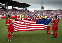 Commerce City, CO - Thursday June 08, 2017: USMNT, national anthem during a 2018 FIFA World Cup Qualifying Final Round match between the men's national teams of the United States (USA) and Trinidad and Tobago (TRI) at Dick's Sporting Goods Park.