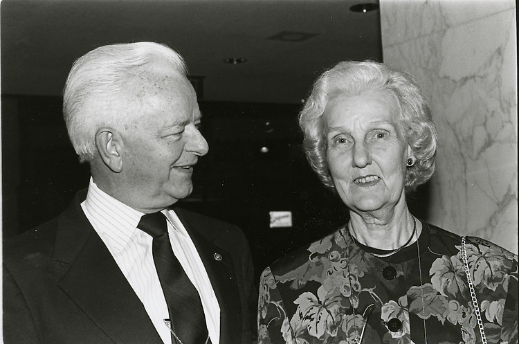 Erma Ora Byrd, pictured with her her husband, Sen. Robert Byrd (D-W.Va.), died March 25, 2006, in her home in McLean, Va., after a long battle with an undisclosed illness. She was 88. In this photo Mr and Mrs Byrd are attending the 1992 the DSCC dinner at the Washington Hilton.