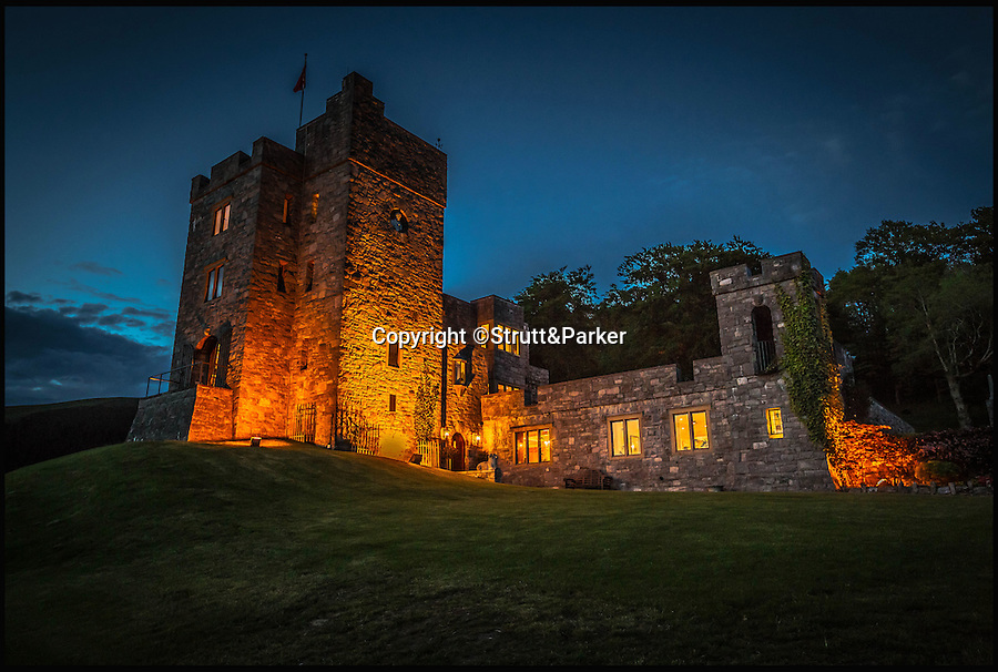 BNPS.co.uk (01202 558833)<br /> Pic: Strutt&Parker/BNPS<br /> <br /> Impregnable home - For Jose Mourinho??<br /> <br /> New Utd boss has been reported to have had two viewings at this modern Welsh Castle.<br /> <br /> Every man's home is his castle - and the new Manchester United boss could get his hands on this modern fortress complete with tower and fire-breathing dragon for a whopping £4 million.<br /> <br /> From the outside Castell Gyrn, which sits in the rolling countryside in Denbighshire, North Wales, looks the part of a 200-year-old citadel, but it is actually one of the country's youngest castles at just 39 years old.<br /> <br /> Unlike its ancient counterparts, the contemporary stronghold comes complete with draught exclusion, underfloor heating and double glazing.<br /> <br /> It also has the modern comforts of a cinema room, a library and a butler's pantry, as well as permission to add an extension for leisure facilities including an infinity swimming pool.