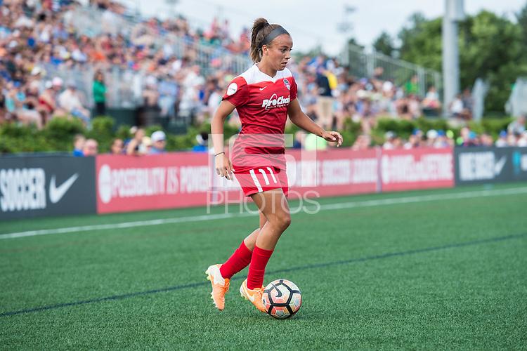 Boston, MA - Saturday July 01, 2017: Mallory Pugh during a regular season National Women's Soccer League (NWSL) match between the Boston Breakers and the Washington Spirit at Jordan Field.
