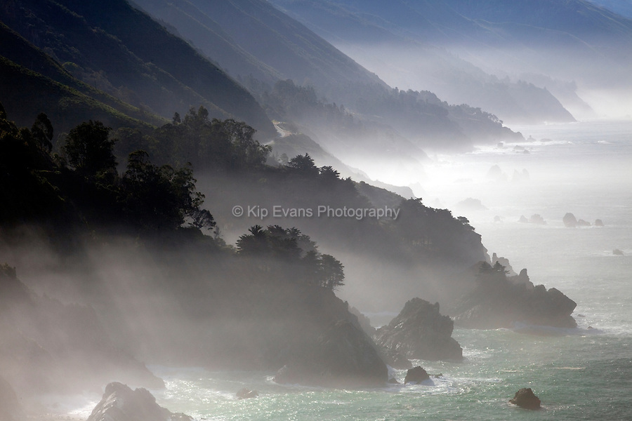Fog along the Big Sur Coast