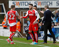 Fleetwood Town's Ashley Hunter is replaced by Wes Burns<br /> <br /> Photographer David Shipman/CameraSport<br /> <br /> The EFL Sky Bet League One - Peterborough United v Fleetwood Town - Friday 14th April 2016 - ABAX Stadium  - Peterborough<br /> <br /> World Copyright &copy; 2017 CameraSport. All rights reserved. 43 Linden Ave. Countesthorpe. Leicester. England. LE8 5PG - Tel: +44 (0) 116 277 4147 - admin@camerasport.com - www.camerasport.com