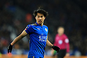18th March 2018, King Power Stadium, Leicester, England; FA Cup football, quarter final, Leicester City versus Chelsea; Shinji Okazaki of Leicester City