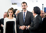 Kings of Spain Felipe VI and Letizia Ortiz inaugurates the intertational art festival (ARCO) in Madrid. 2015/02/26. Samuel de Roman / Photocall3000.