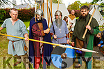 Déise Medieva getting ready to reenact a battle scene in the Town Park at the Féile na mBláth on Sunday.<br /> L to r: Denis O'Dwyer, Andrew Dunphy, Paul Robinson and Philip Hayes.