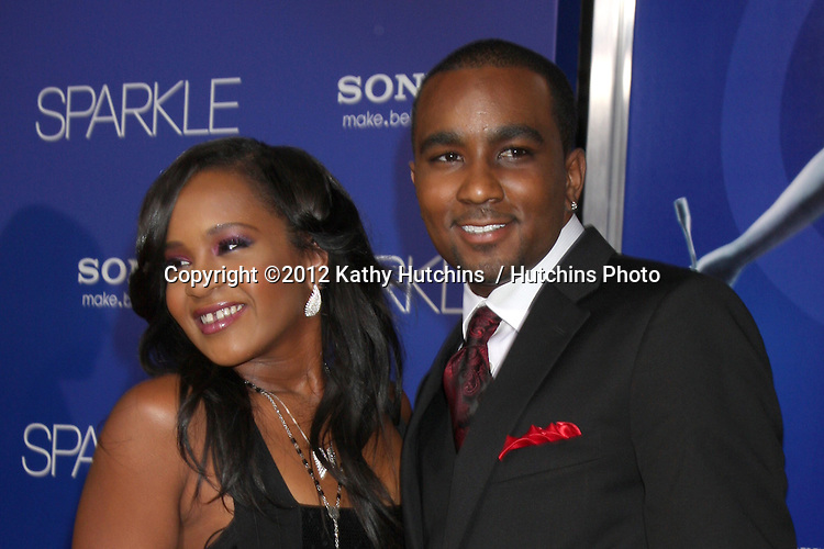 """Los Angeles - AUG 16:  Bobbi Kristina Brown, Nick Gordon arrives at the """"Sparkle""""  Premiere at Graumans Chinese Theater on August 16, 2012 in Los Angeles, CA"""