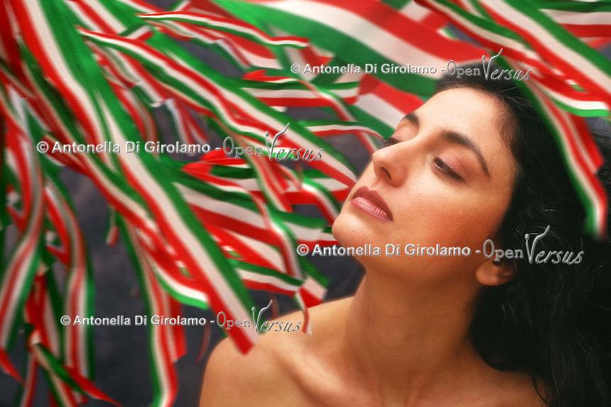Tricolore.The Italian tricolour.