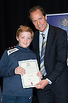 St Johnstone FC Youth Academy Presentation Night at Perth Concert Hall..21.04.14<br /> Alec Cleland presents to Ben Sellars<br /> Picture by Graeme Hart.<br /> Copyright Perthshire Picture Agency<br /> Tel: 01738 623350  Mobile: 07990 594431