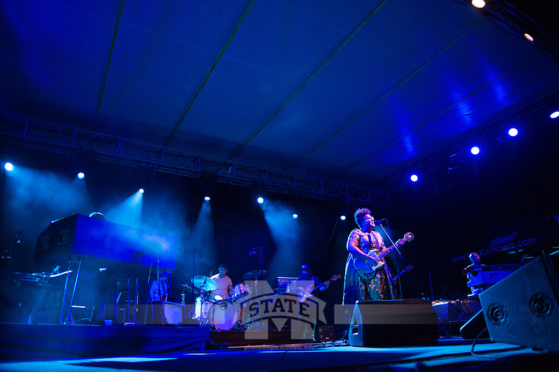 Alabama Shakes concert at the Amphitheatre.<br />  (photo by Megan Bean / &copy; Mississippi State University)