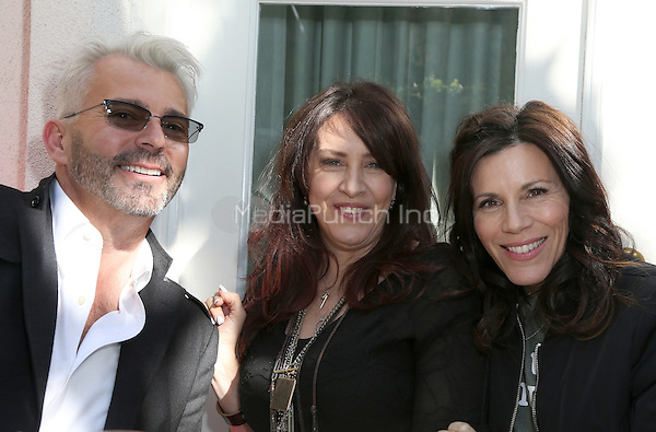 BEVERLY HILLS, CA - FEBRUARY 24: Rich Campbell, Joely Fisher, Tricia Leigh Fisher, at the Dermaflash and The Glam App Pre-Oscar event at The Peninsula Hotel In Beverly Hills, California on February 24, 2017. Credit: Faye Sadou/MediaPunch