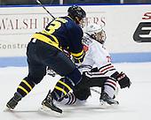 Kyle Bigos (Merrimack - 3), Cody Ferriero (Northeastern - 79) - The visiting Merrimack College Warriors defeated the Northeastern University Huskies 4-3 (OT) on Friday, February 4, 2011, at Matthews Arena in Boston, Massachusetts.