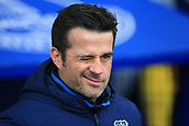 17th March 2019, Goodison Park, Liverpool, England; EPL Premier League Football, Everton versus Chelsea; Everton manager Marco Silva winks as he looks on from the dugout