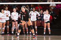 STANFORD, CA - October 14, 2016: Morgan Hentz at Maples Pavilion. The Arizona Wildcats defeated the Cardinal 3-1.