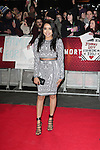 NON EXCLUSIVE PICTURE: MATRIXPICTURES.CO.UK<br /> PLEASE CREDIT ALL USES<br /> <br /> WORLD RIGHTS<br /> <br /> British singer Dionne Bromfield attending the UK Premiere of Mortdecai at Empire Leicester Square, in London.<br /> <br /> JANUARY 19th 2015<br /> <br /> REF: GBH 15182