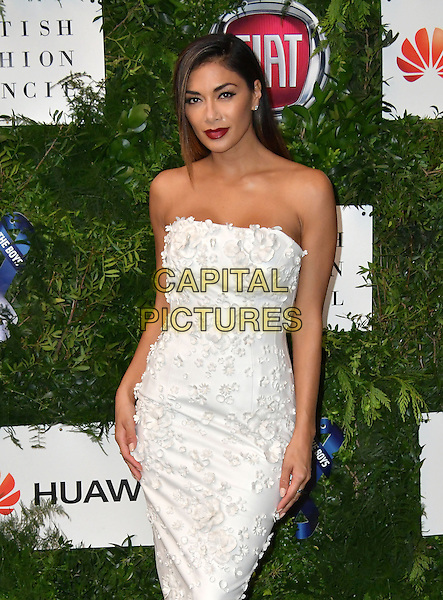 Nicole Scherzinger at Charity ball in aid of One For The Boys, a charity raising awareness of male forms of cancer, encouraging men to get checked regularly. Evening celebrates the launch of the 2016 campaign film The Difference, at Victoria and Albert Museum, London, England June 12, 2016.<br /> CAP/JOR<br /> &copy;JOR/Capital Pictures