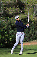 Mathieu Fenasse (FRA) on the 5th tee during Round 3 of the Challenge Tour Grand Final 2019 at Club de Golf Alcanada, Port d'Alcúdia, Mallorca, Spain on Saturday 9th November 2019.<br /> Picture:  Thos Caffrey / Golffile<br /> <br /> All photo usage must carry mandatory copyright credit (© Golffile | Thos Caffrey)