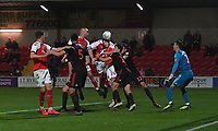 Fleetwood Town's Ashley Eastham scores the winning goal<br /> <br /> Photographer Dave Howarth/CameraSport<br /> <br /> The EFL Sky Bet League One - Fleetwood Town v Sunderland - Tuesday 30th April 2019 - Highbury Stadium - Fleetwood<br /> <br /> World Copyright © 2019 CameraSport. All rights reserved. 43 Linden Ave. Countesthorpe. Leicester. England. LE8 5PG - Tel: +44 (0) 116 277 4147 - admin@camerasport.com - www.camerasport.com