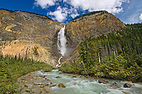 The Kicking Horse River at Takakkaw Falls<br /> Yoho National Park<br /> British Columbia<br /> Canada