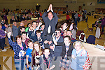 Seamus Cosaí fitzgerald celebrateswith his family and friends after being elected in the Killorglin Dingle Area on Sunday evening