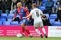 Jay Harris of Tranmere Rovers and Jake Howells of Dagenham during Tranmere Rovers vs Dagenham & Redbridge, Vanarama National League Football at Prenton Park on 11th November 2017