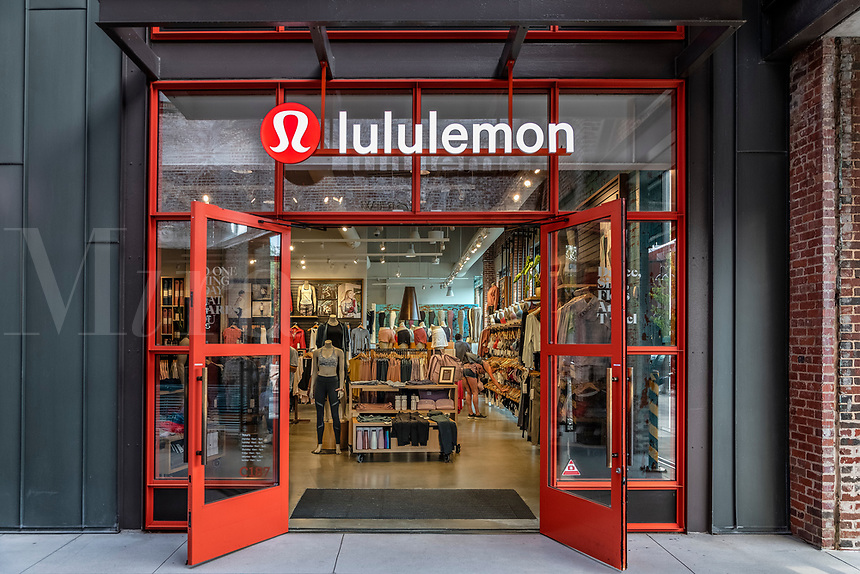 Lululemon Athletica store exterior, Ponce City Market, Atlanta, Georgia, USA.