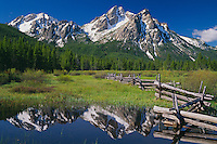 Pole fence and McGown Peak<br />