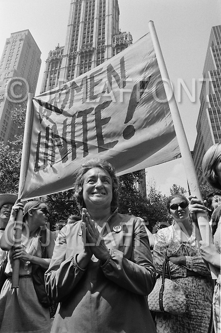 Manhattan, New York City, NY. August 26th, 1970.<br />