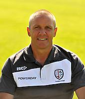Sunbury-on-Thames, England. London Irish head coach Brian Smith during the London Irish Media session on August 6, 2013 in Sunbury-on-Thames, England.