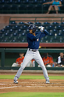 AZL Brewers center fielder Je'Von Ward (8) at bat against the AZL Giants on August 15, 2017 at Scottsdale Stadium in Scottsdale, Arizona. AZL Giants defeated the AZL Brewers 4-3. (Zachary Lucy/Four Seam Images)