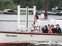 Henley Royal Regatta, Henley on Thames, Oxfordshire, 28 June - 2 July 2017.  Wednesday  09:46:22   28/06/2017  [Mandatory Credit/Intersport Images]<br /> <br /> Rowing, Henley Reach, Henley Royal Regatta.<br /> <br /> Miss G Batten Umpire on Launch ARIADNE
