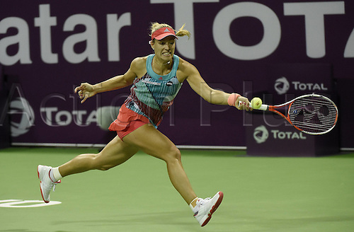 23.02.2016. Doha, Qatar. Qatar Total Open championships.  Angelique Kerber Germany