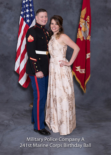 Shaylee DeVore at the Military Police Company A 241 Marine Corps Birthday Ball, Saturday Nov. 19, 2016  in Lexington, Ky. Photo by Mark Mahan