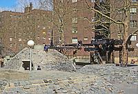 New York City: Lower East side. Riis Plaza, Friedlander & Breines, 1966. Views taken in 1978. All torn down in 1995.