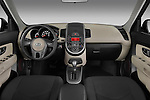 Straight dashboard view of a 2010 Kia Soul!.