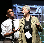 "Royston Scott and Colleen O'Neill from the Cast of ""Tony Stinkmetal's SlashR""on September 14, 2018 at the Gene Frankel Theatre in New York City."