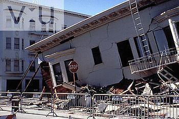 San Francisco Earthquake Damage, 1989, California, USA