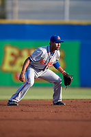 St. Lucie Mets shortstop J.C. Rodriguez (35) during a game against the Dunedin Blue Jays on April 19, 2017 at Florida Auto Exchange Stadium in Dunedin, Florida.  Dunedin defeated St. Lucie 9-1.  (Mike Janes/Four Seam Images)