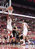 Ohio State Buckeyes center Amir Williams (23) throws down a dunk during the second half of the NCAA men's basketball game between the Ohio State Buckeyes and the Purdue Boilermakers at Value City Arena in Columbus, Ohio, on Saturday, Feb. 8, 2014. The Buckeyes defeated the Boilermakers, 67-49. (Columbus Dispatch/Sam Greene)