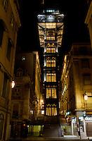Elevator de Santa Justa in LissabonPortugal