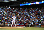 Yu Darvish (Rangers),.APRIL 30, 2013 - MLB :.Pitcher Yu Darvish of the Texas Rangers looks at the ball on the mound during the baseball game against the Chicago White Sox at Rangers Ballpark in Arlington in Arlington, Texas, United States. (Photo by AFLO)