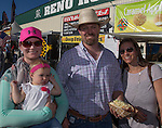 """Diane Irish, Charlotte, Evan and Tera McQuire during Purple Night at the Rodeo on Tuesday night, June 21, 2016.  """"Man Up Crusade Night"""" encouraged rodeo goers to wear purple for advocacy to stop domestic violence."""